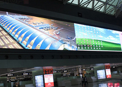 Silence Operated P10 Full Color Led Display , Indoor Rental Led Display Iron / Steel Material